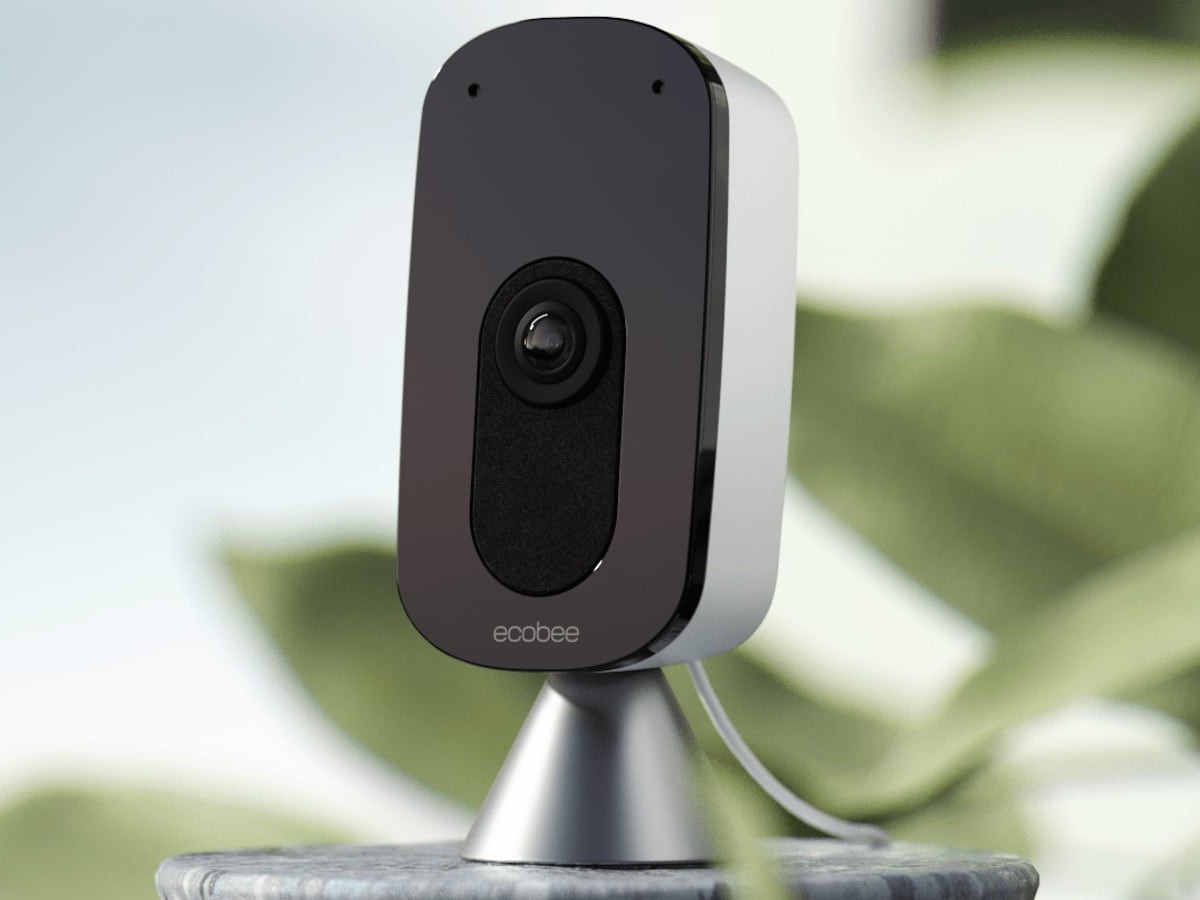 ecobee SmartCamera indoor security camera works with Amazon Alexa and Apple HomeKit