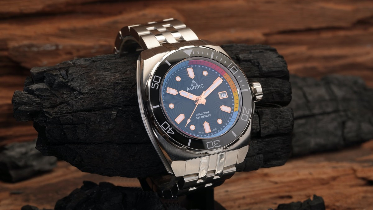 AUDRIC SeaBorne 500 M Rugged Tool Watch combines intricate detail and technical innovation
