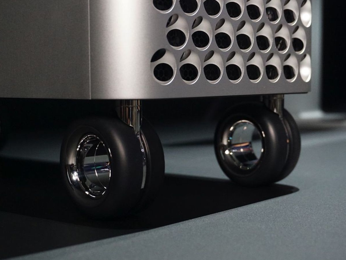 Apple Mac Pro Wheels Kit Computer Rollers makes it easier to move your device