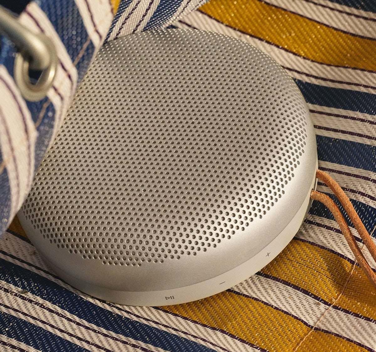 Bang & Olufsen Beosound A1 2nd Gen Wireless Waterproof Speaker plays punchy music