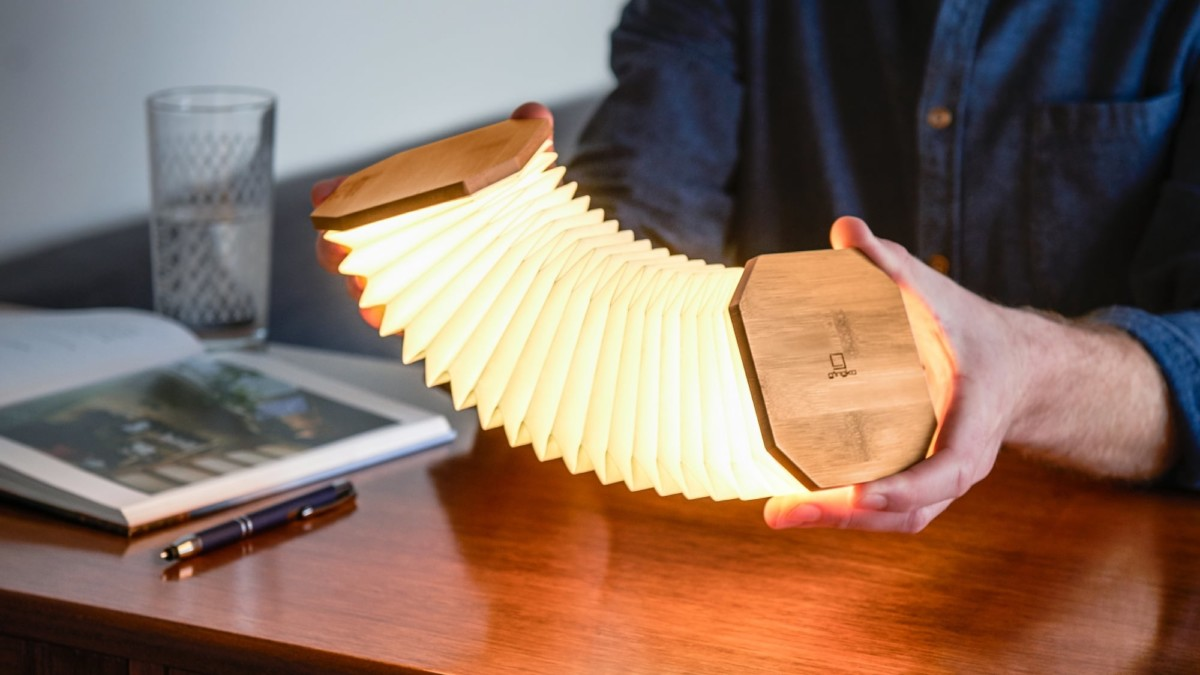 Gingko Smart Accordion Lamp Collapsible Light lets you bend and shape it in many ways