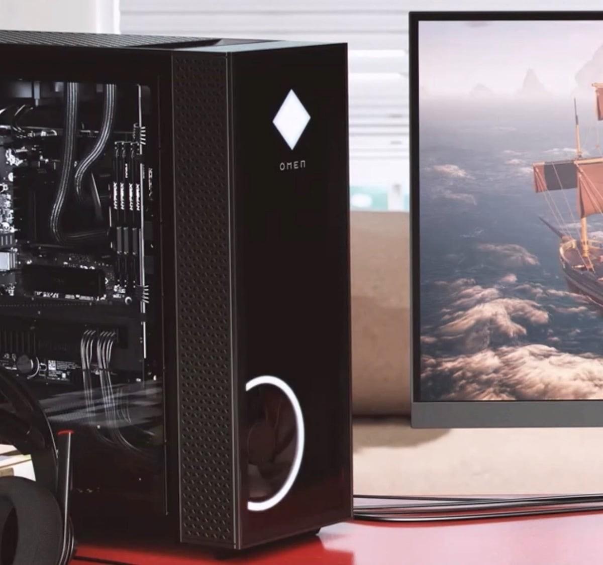 HP Omen 25L & 30L Gaming Desktops offer an elegant design