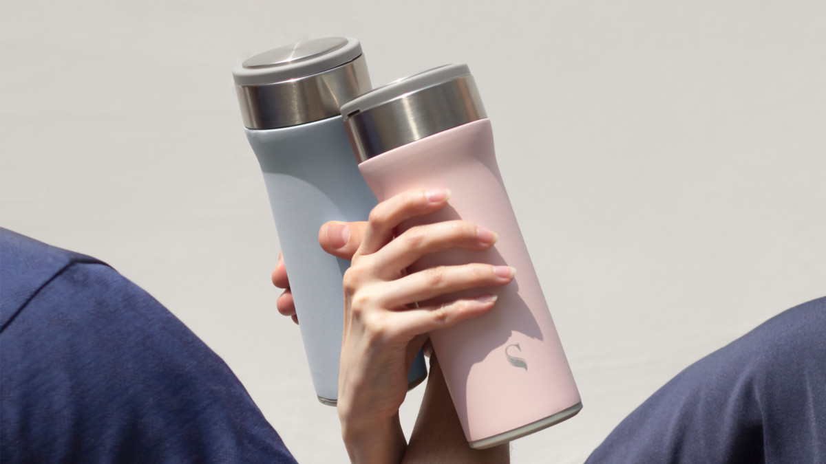 Kokoro Thermal Flask has a solid porcelain interior