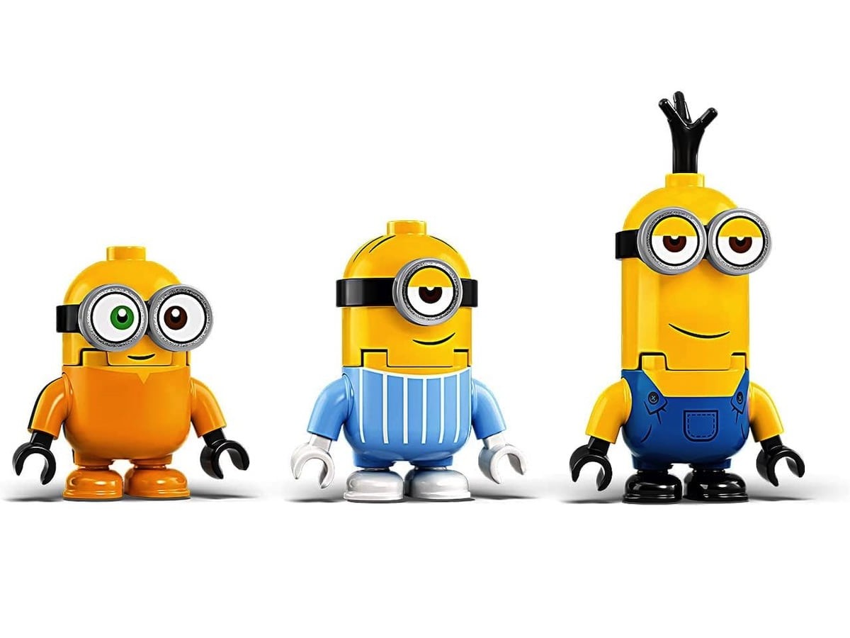 LEGO Brick-Built Minions and Lair Despicable Me Building Set lets you build three figurines