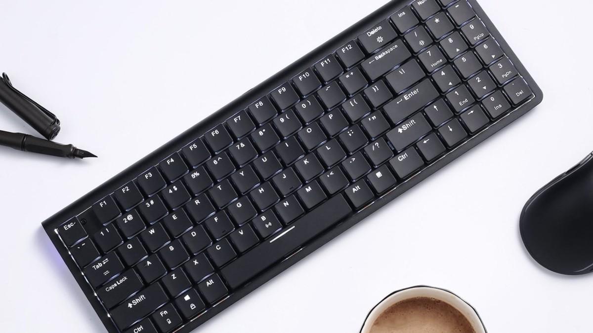 LTC LK-301 Nimbleback Bluetooth Low Profile Switch Keyboard is lightweight for portability