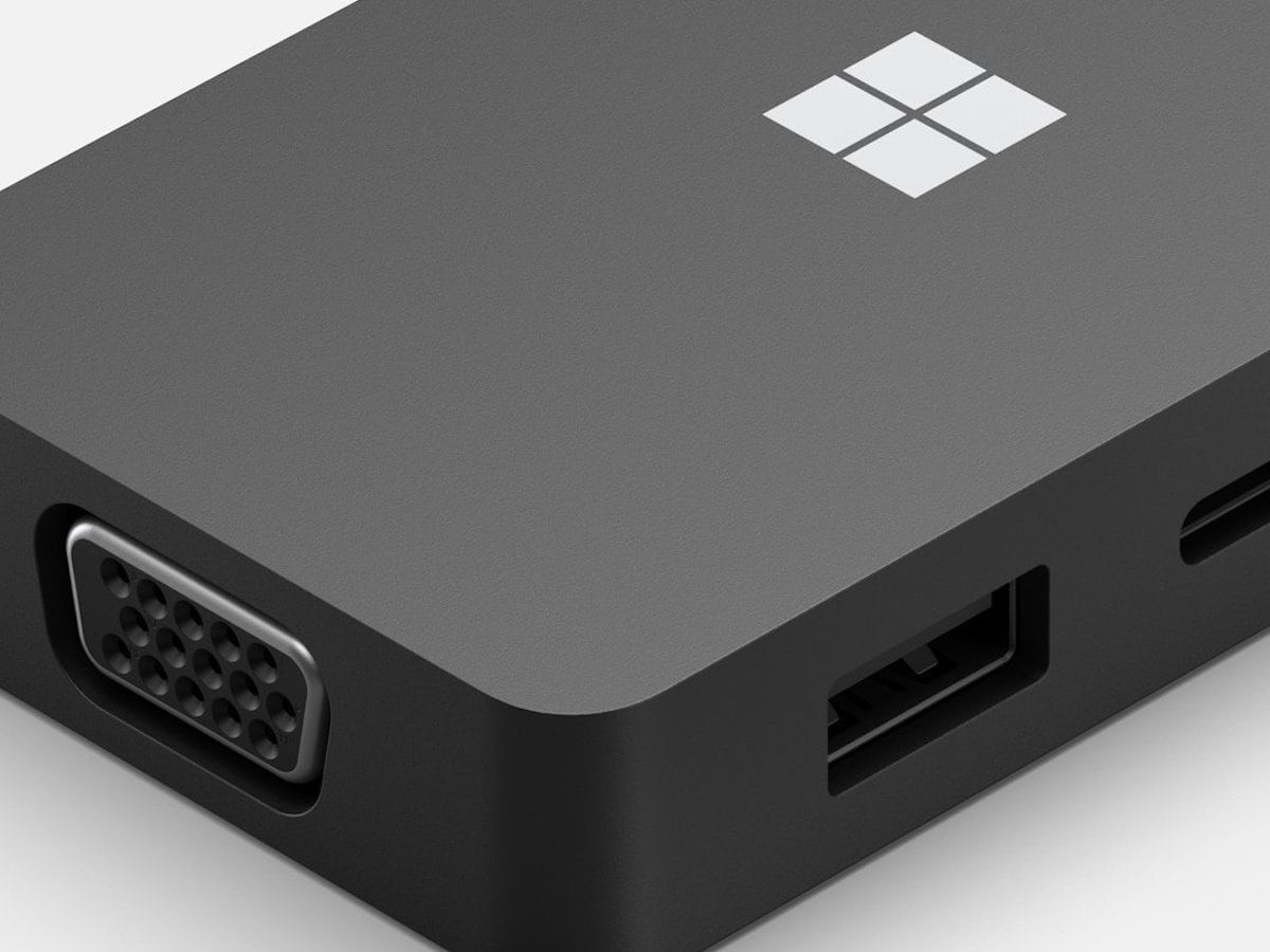 Microsoft USB-C Travel Hub Multiport Device works with any PC that has a USB-C port