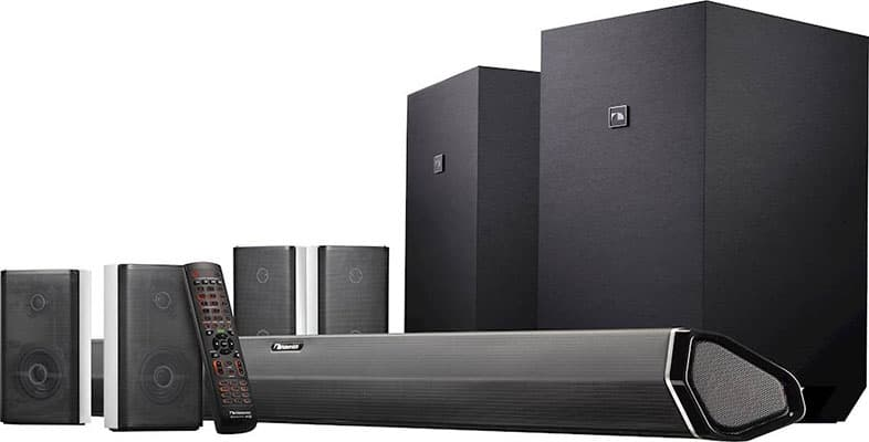 Nakamichi Shockwafe Ultra 9.2.4 Channel 1000W Dolby Atmos Soundbar with Dual 10 Subwoofers (Wireless) & 4 Rear Surround Effects Speakers
