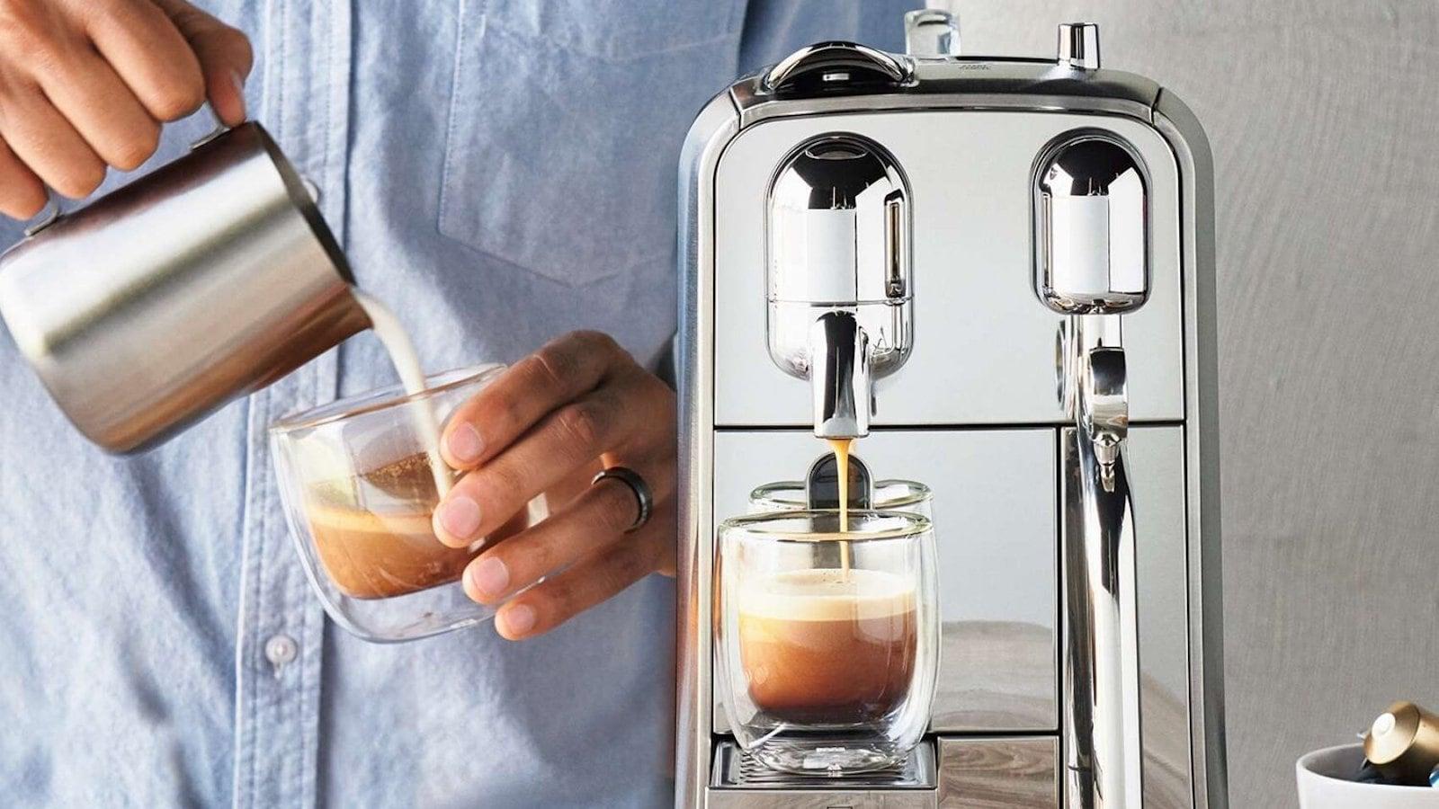 Nespresso Creatista Plus espresso drink maker heats up in only 3 seconds