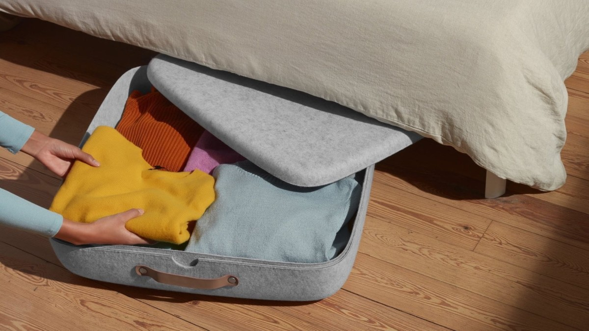 Open Spaces Underbed Storage Felt Bins keep all your less-used items organized