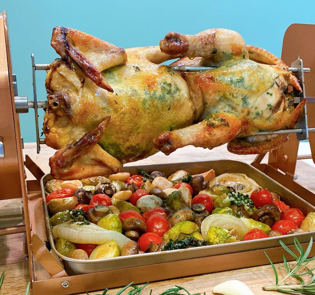 ROTO-Q 360 Non-Electric Rotisserie makes healthier eating an easy option