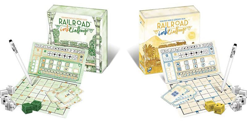 Railroad Ink Challenge Roll and Write Game