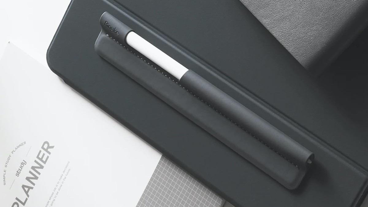 Ringke Pen Sleeve Apple Pencil Holder works with pretty much any stylus or writing instrument