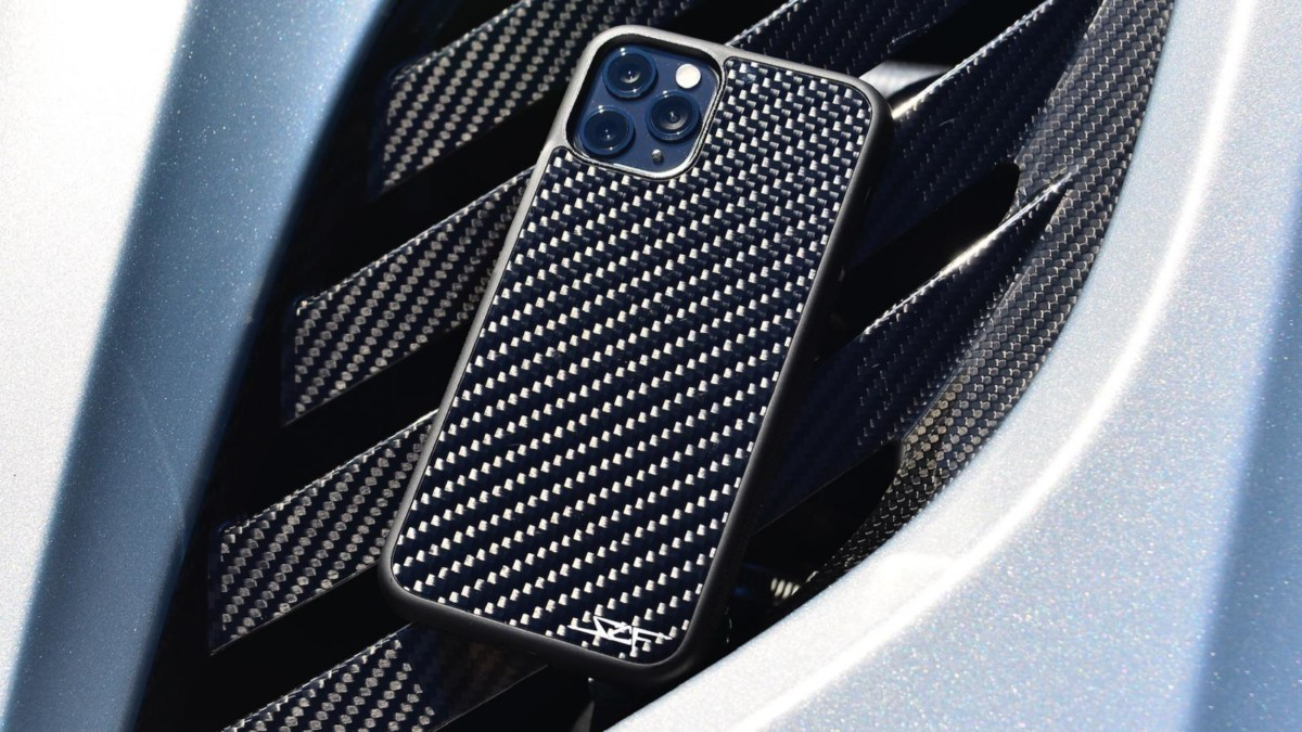 SCF Carbon Fiber Cases protect your iPhone, AirPods, or Galaxy