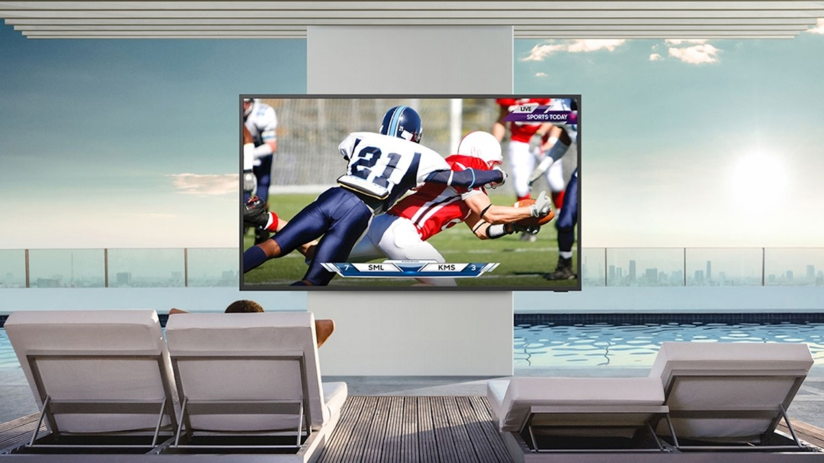 Samsung The Terrace QLED 4K Outdoor Smart TV lets you watch TV outside