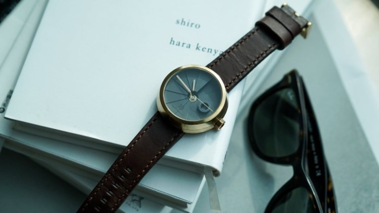 22STUDIO 4D Concrete Watch Brass Minimalist Timepiece