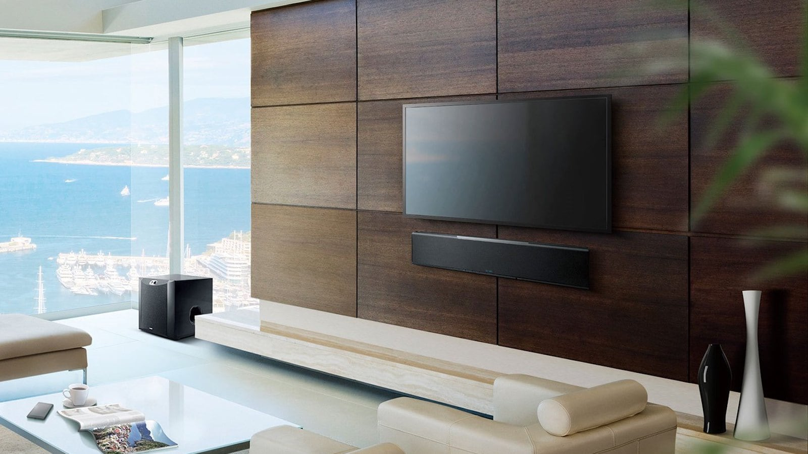 Yamaha YSP-5600 Digital Sound Projector has 46 speakers that work with Dolby Atmos