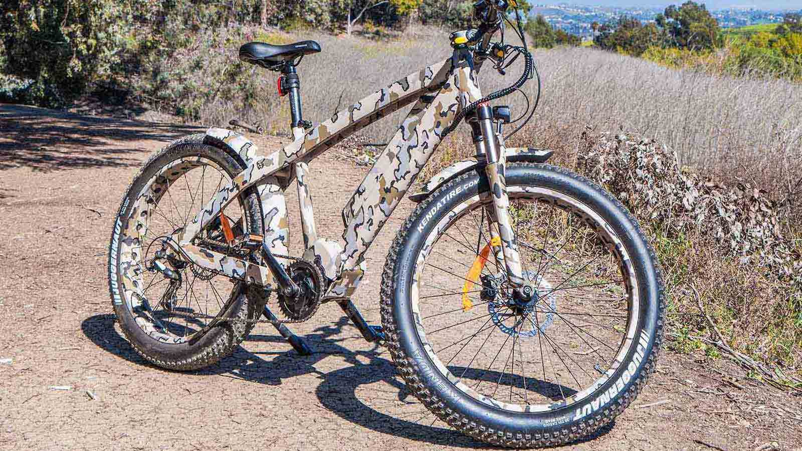 Addmotor Wildtan M-5600 Hunting eBike travels up to 70 miles per charge