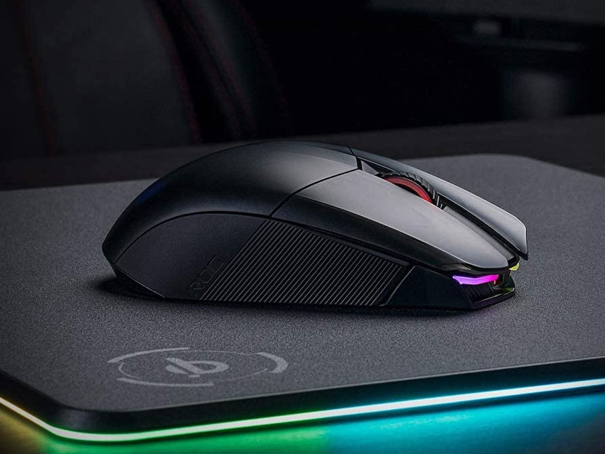 Asus ROG Chakram Gaming Mouse wirelessly charges for cord-free use