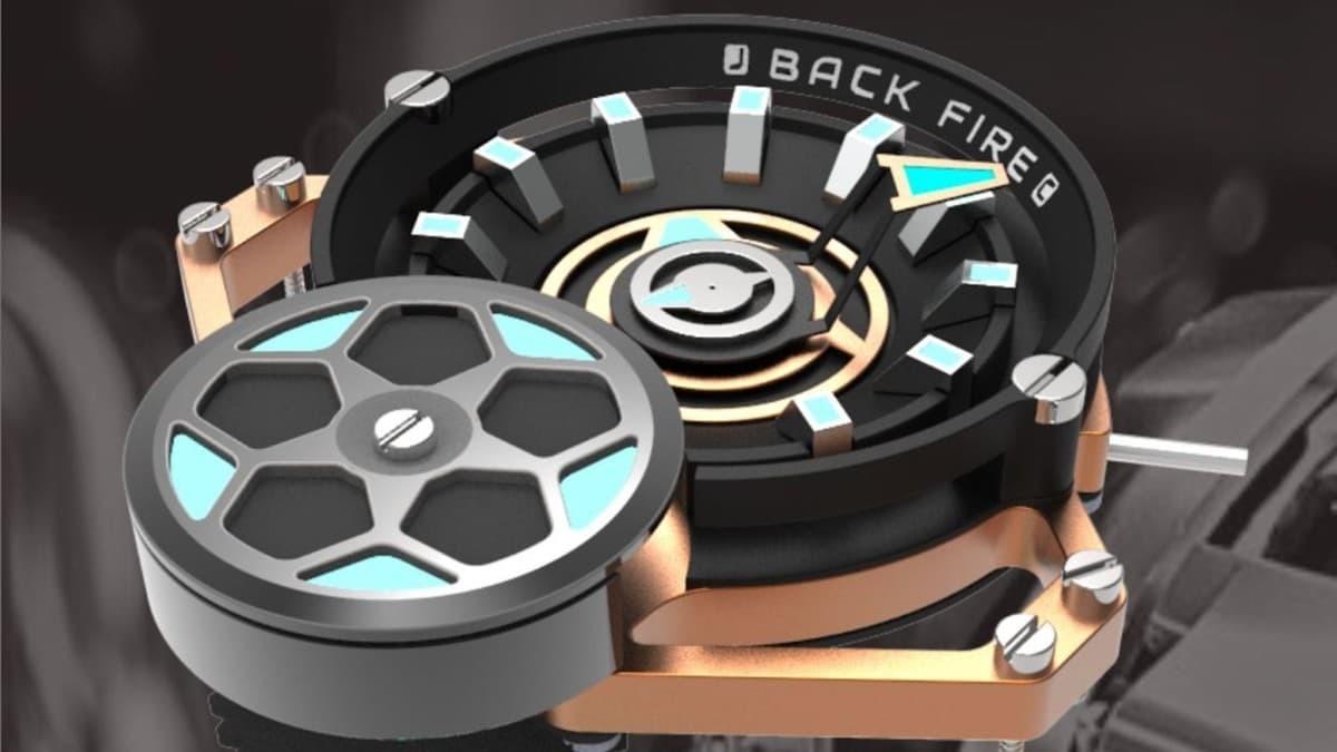 BackFire Automatic Watch Race Car Timepiece