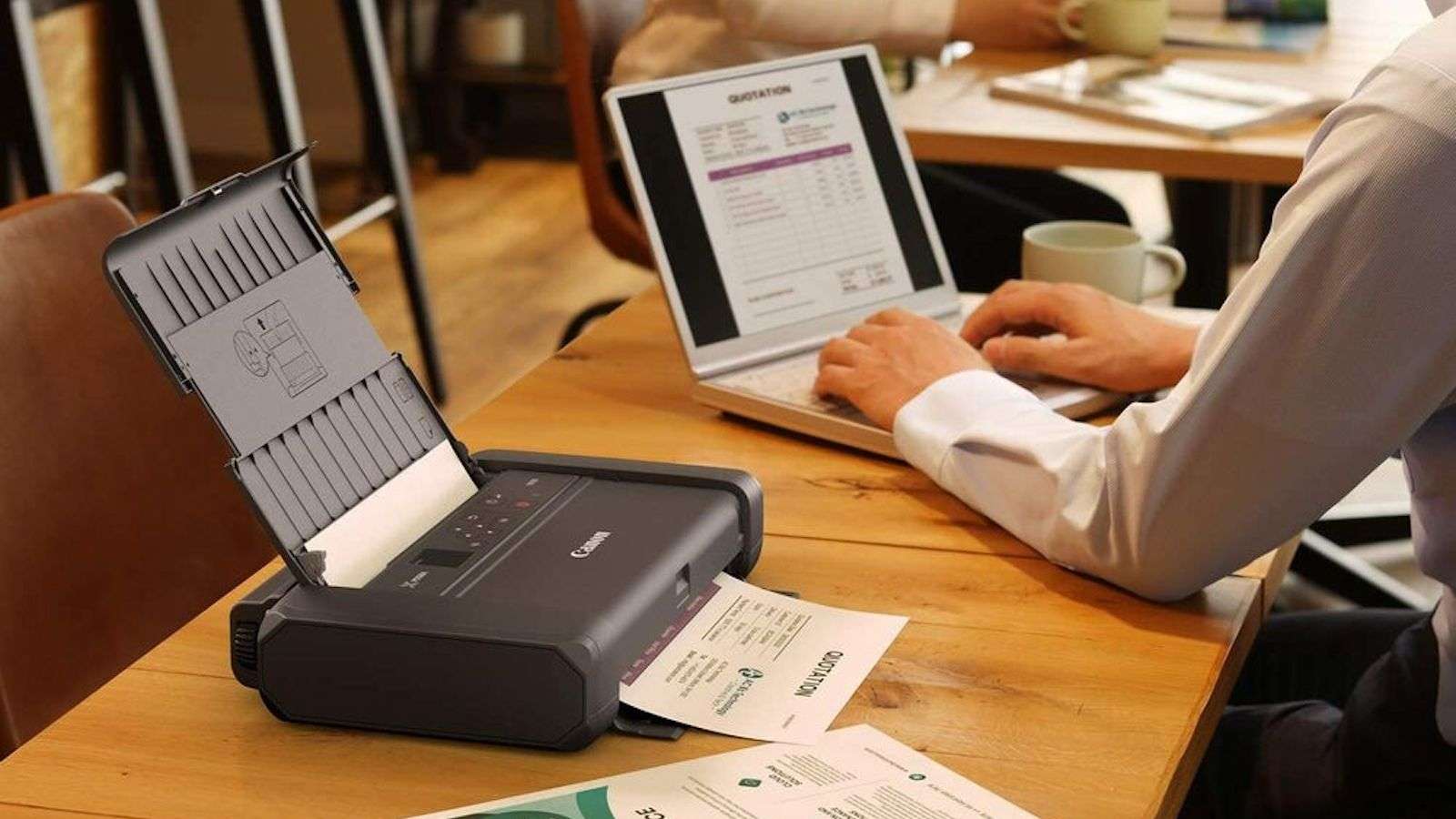 Canon Pixma TR150 Wireless Printer is compact and portable for traveling