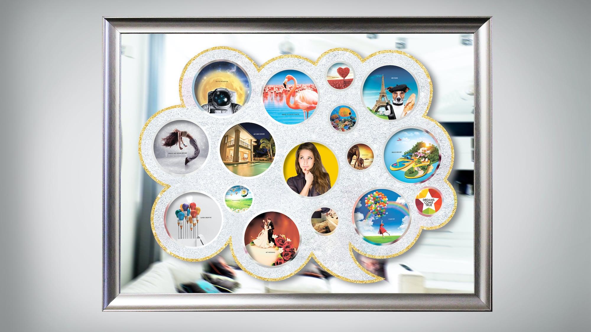 Dreams Come True Vision Board Set provides you with 100 dream ideas