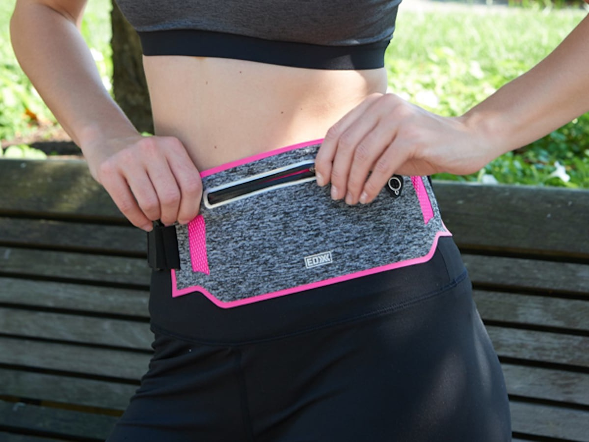 EDX Slim Running Adjustable Waist Pack holds your essentials while you exercise