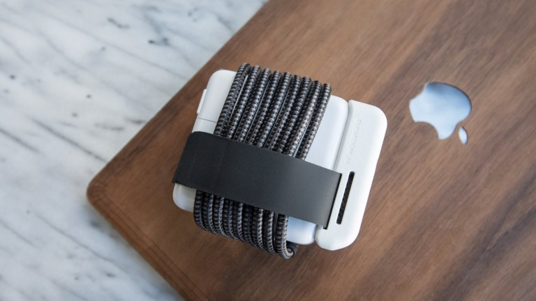 ElevationLab ElevationHub MacBook power adapter keeps your cord wrapped tight