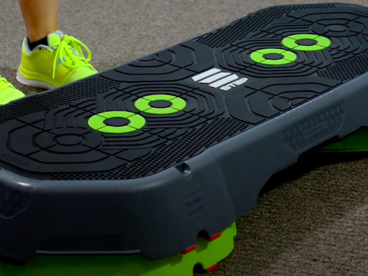 Escape Fitness STEP System Aerobic Platform makes your workouts challenging