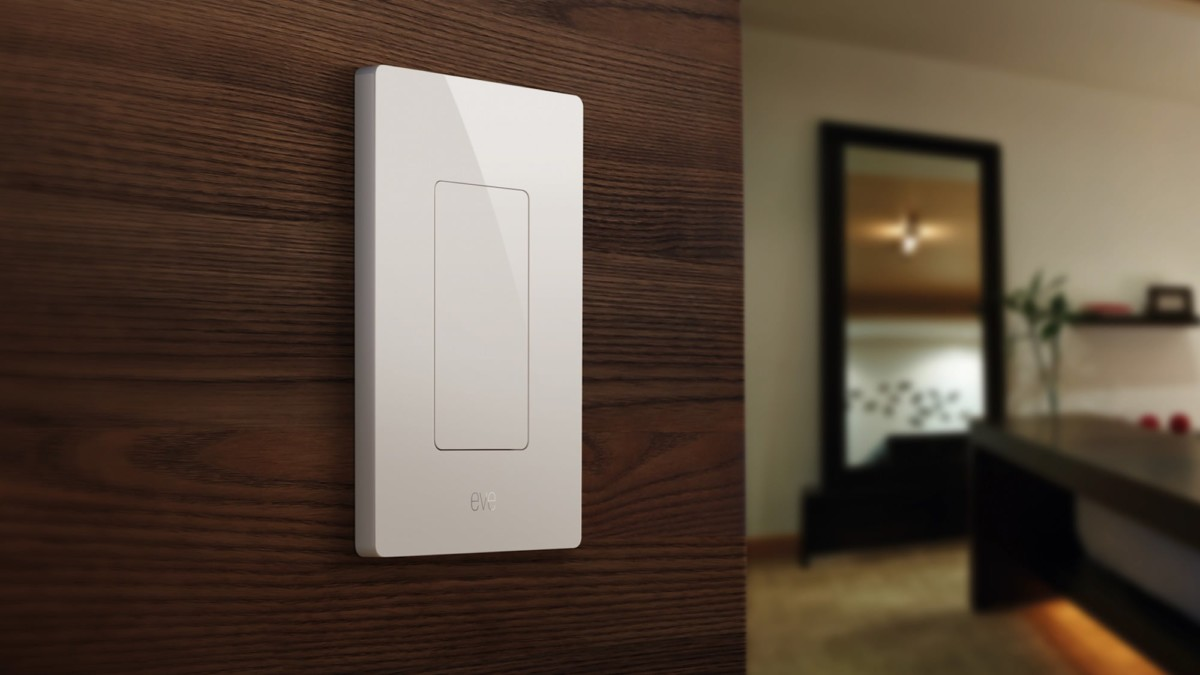 Eve Light Switch Smart Home Lighting lets you manage your lights from anywhere