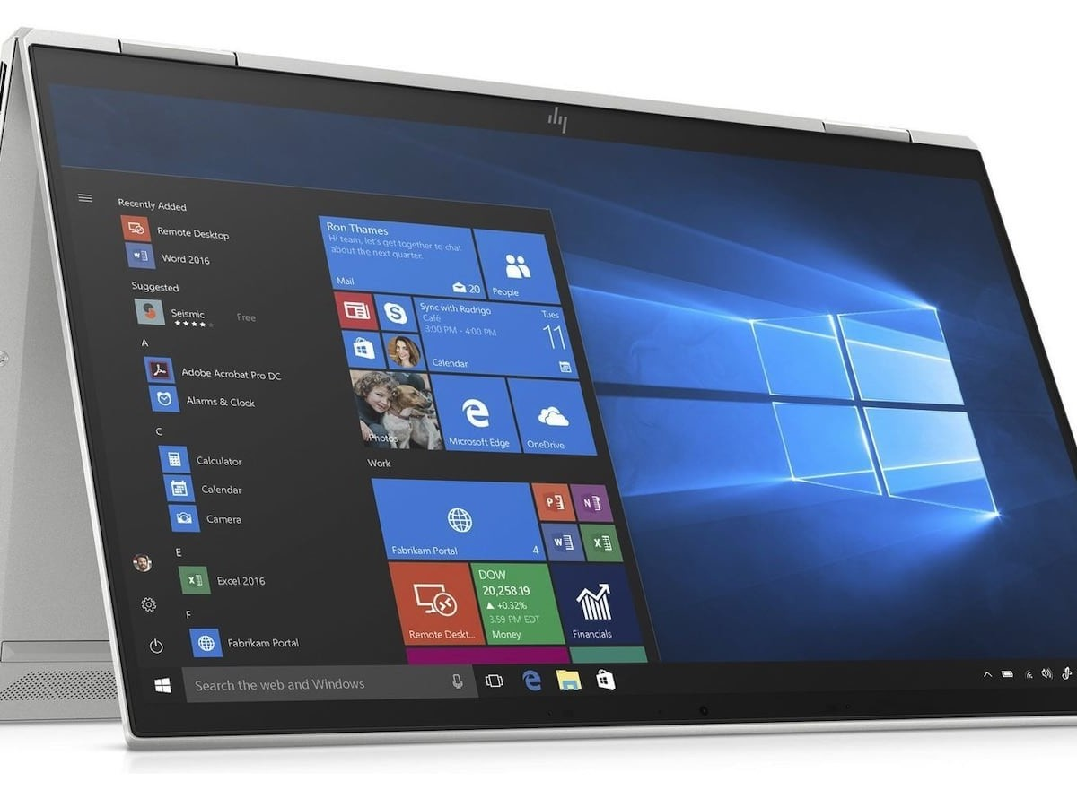 HP EliteBook x360 1030 G7 Premium Laptop maintains a super sleek profile