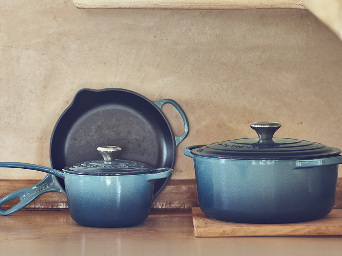 Le Creuset 5-Piece Signature Set Cast Iron Pan Collection adds versatility to any kitchen