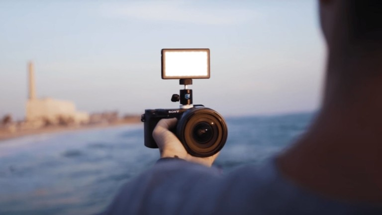 Lume Cube Panel Mini Bicolor LED Light provides on-the-go lighting for photographers