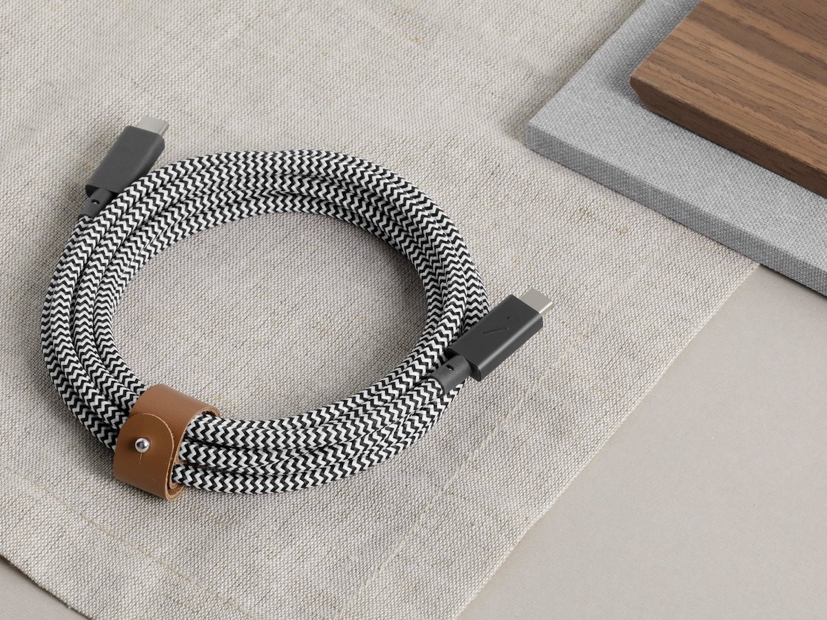 Native Union Belt Cable Pro USB-C cable supports up to 100W for faster charging