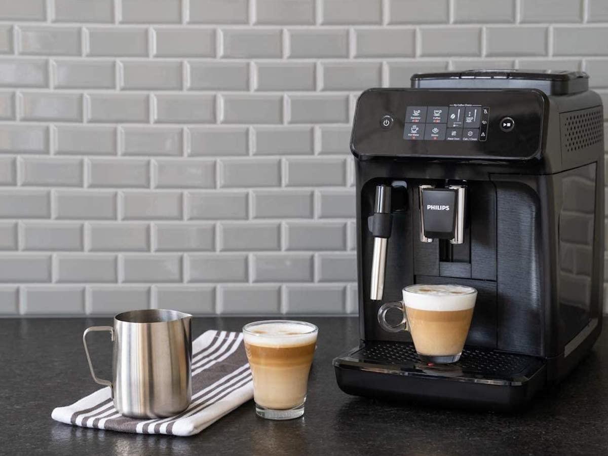 Philips Carina 1200 Series Programmable Espresso Machine creates a silky smooth coffee