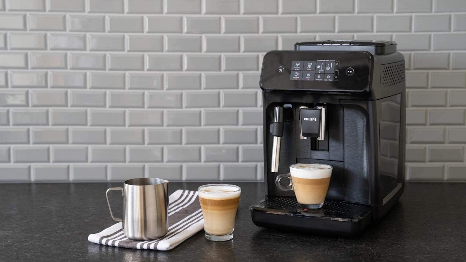 Philips Carina 1200 Series Programmable Espresso Machine creates a silky smooth coffee