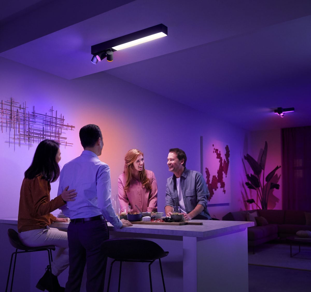 Philips Hue Centris Smart Ceiling Spotlight lets you set just the right mood