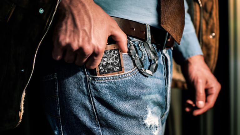 Richard Mille RM 020 Pocket Watch features a manual winding tourbillon movement