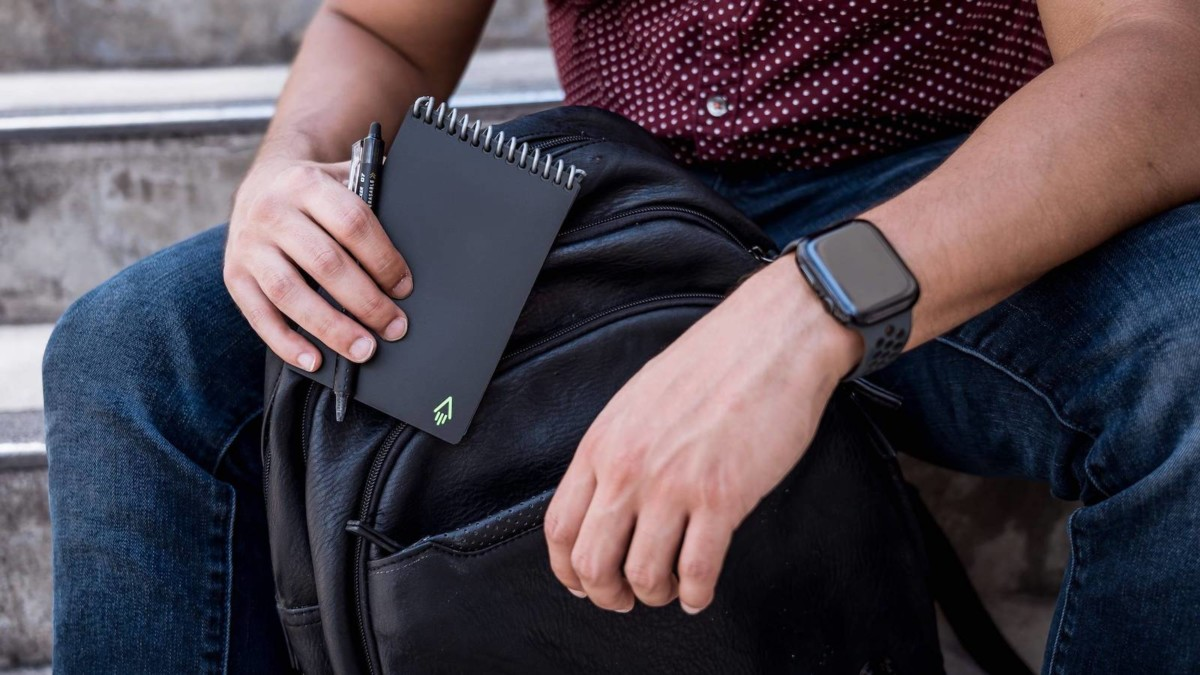 Rocketbook Mini Reusable Compact Notebook offers a handwriting experience without paper waste
