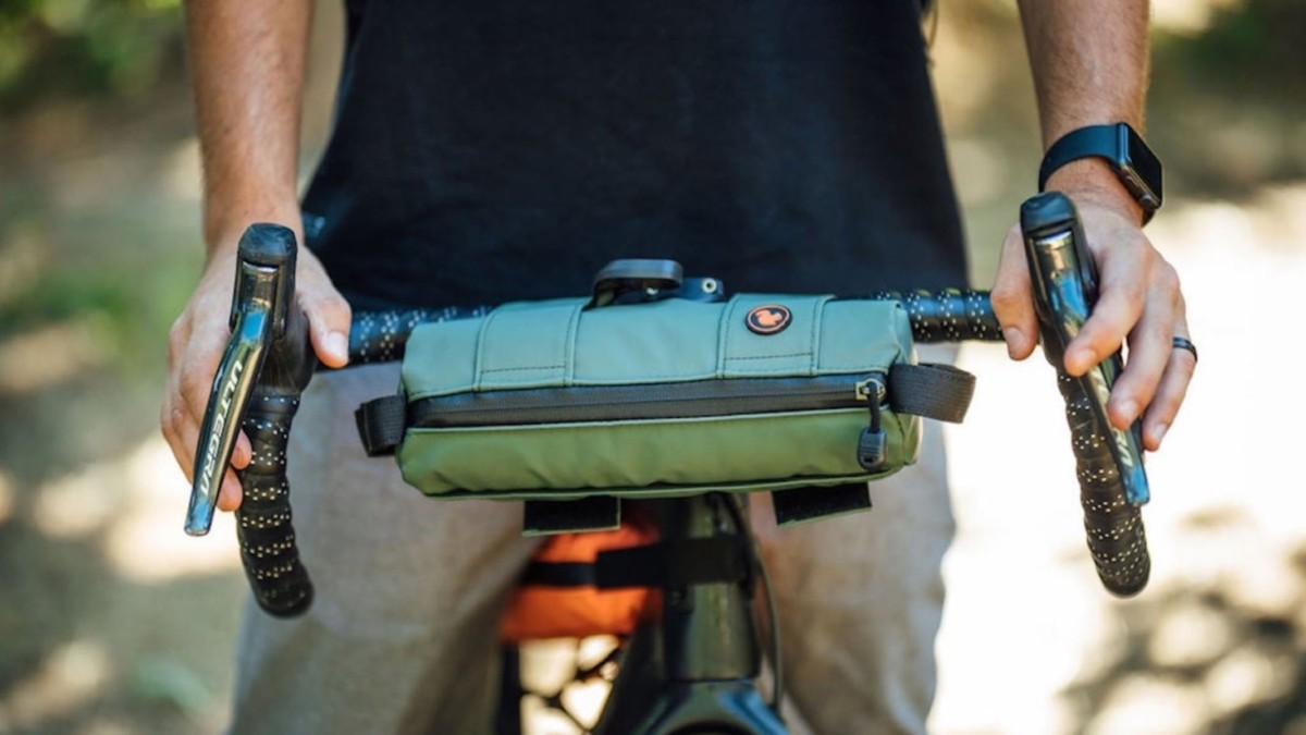 This insulated adventure bag is perfect for your next bike ride