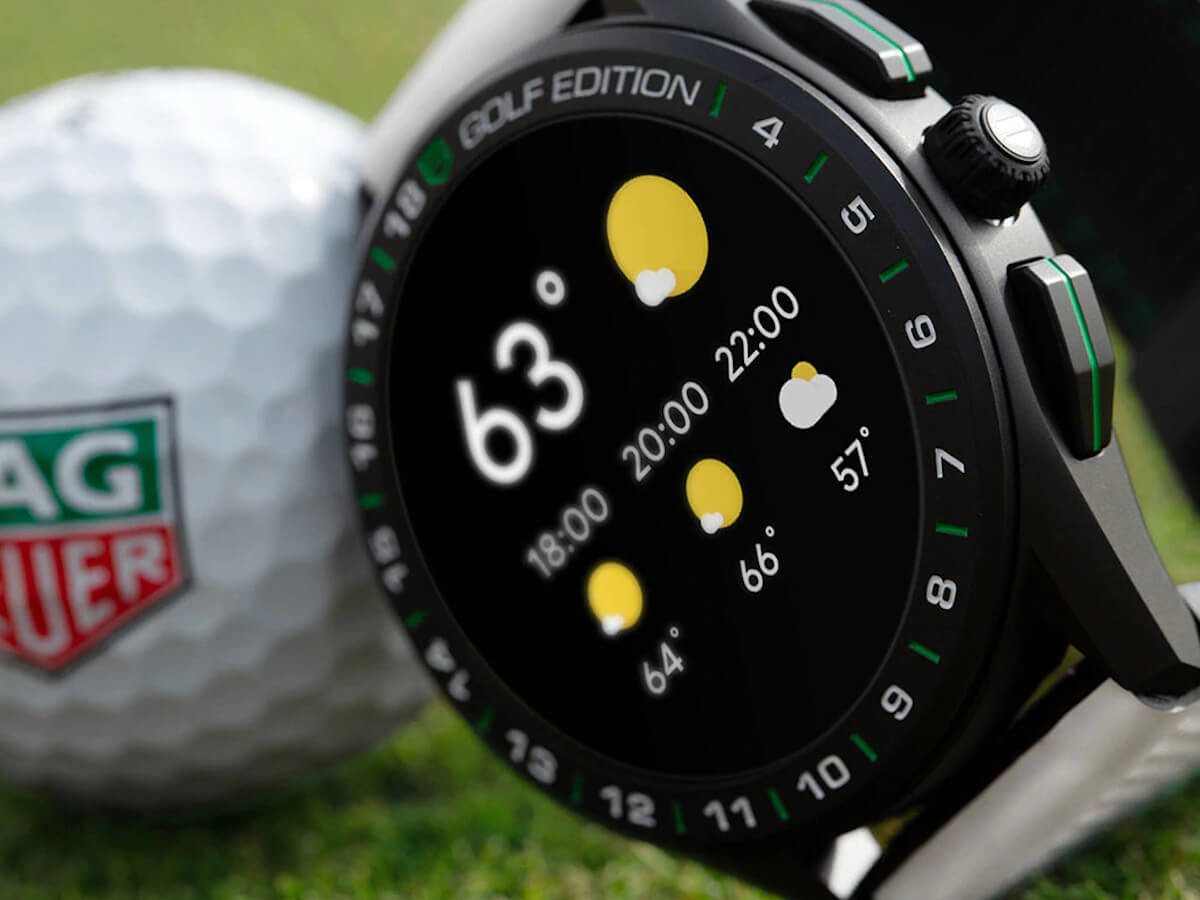 TAG Heuer Connected Golf Edition Titanium Smartwatch is designed for discerning golfers