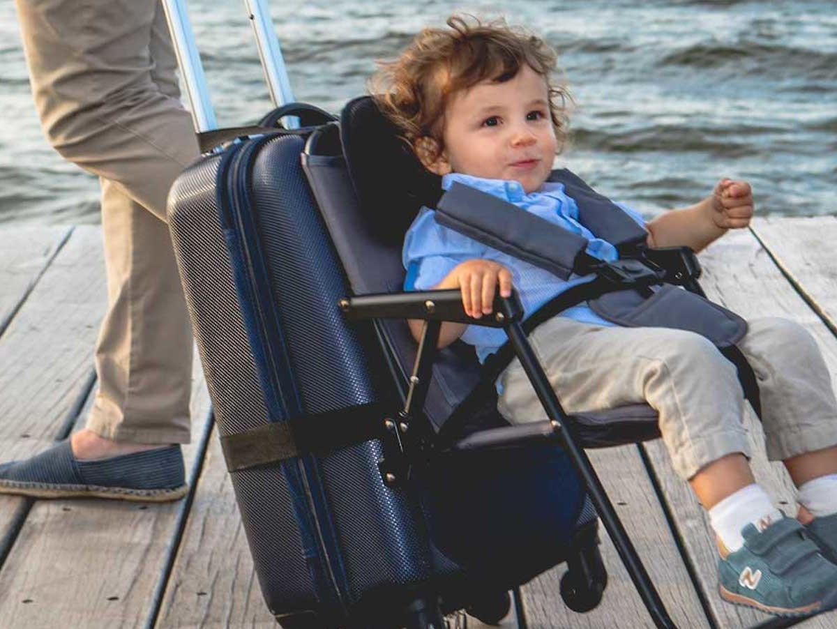 Think King SitAlong Toddler Luggage Seat makes transporting your child even easier