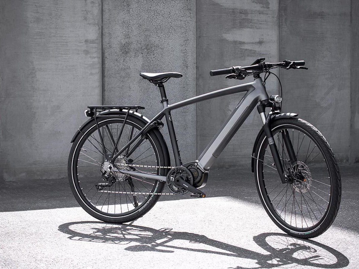 Triumph Trekker GT Electric Bicycle features a lockable lithium-ion battery
