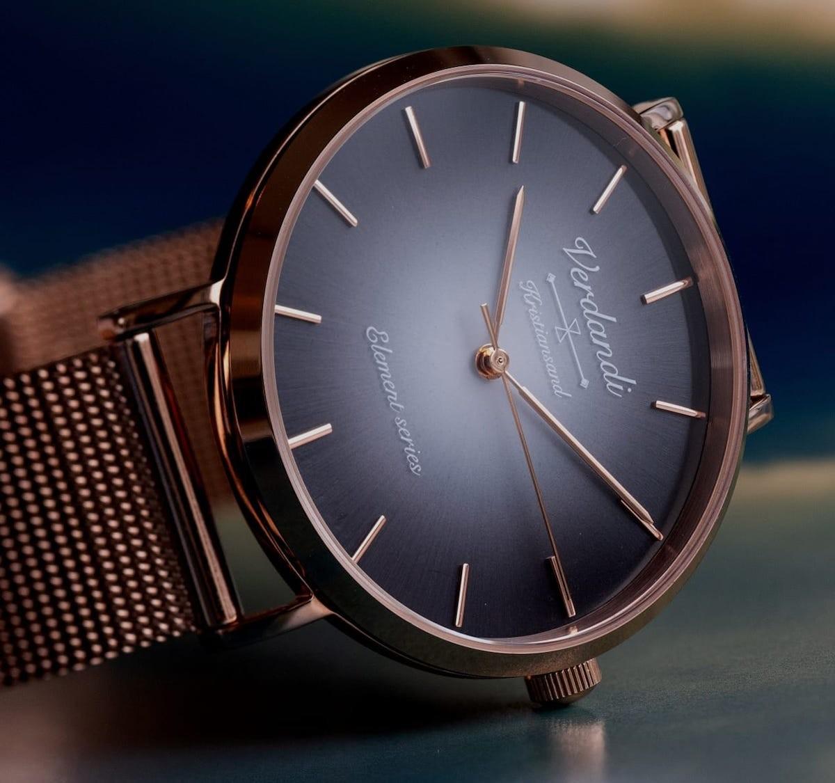 Verdandi Solar-Powered Watch has a gorgeous Scandinavian design