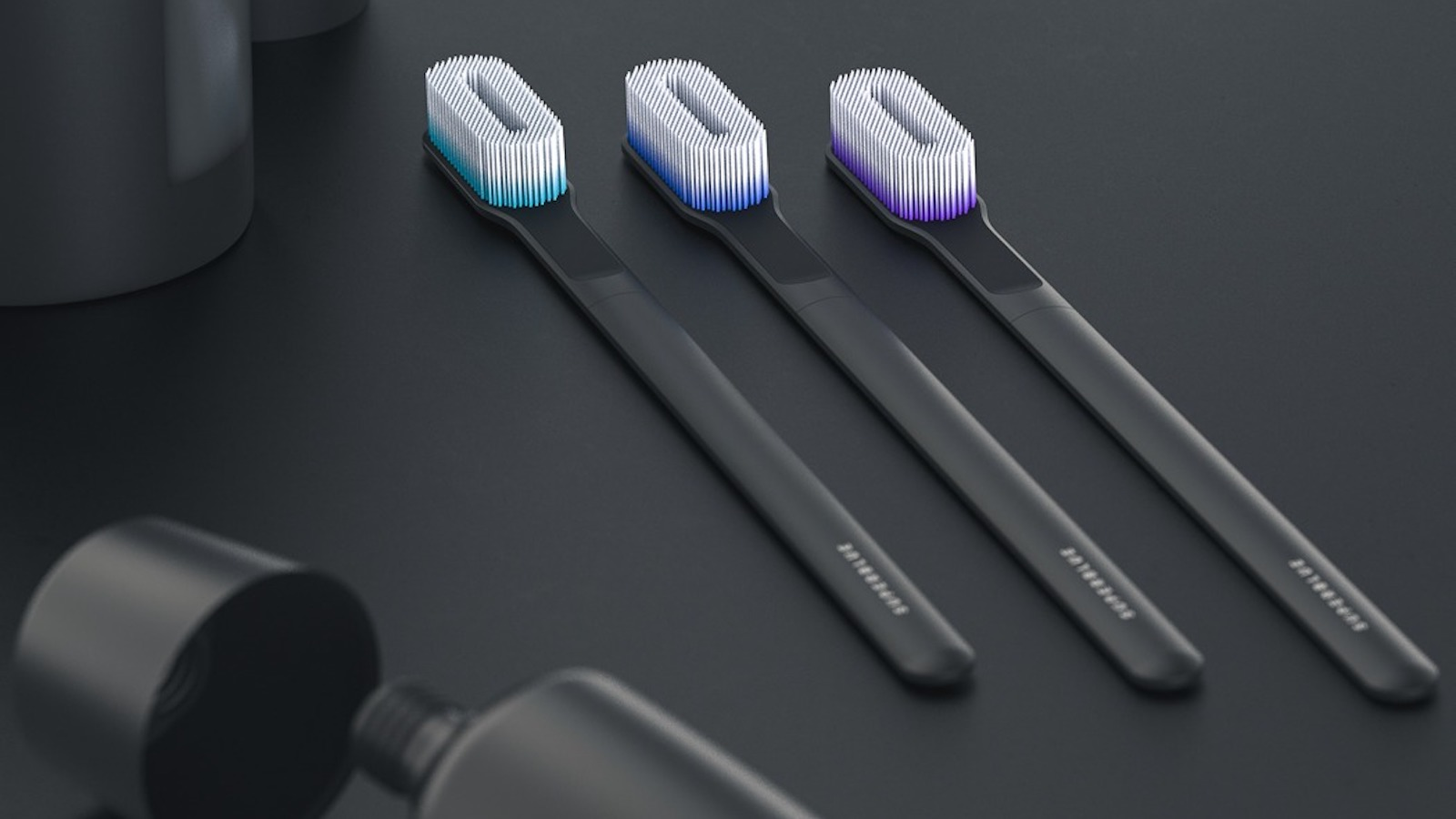 SuperBlue Toothbrush by Dylan Fealtman Sanitizing Teeth Cleaner kills 99.8% of bacteria