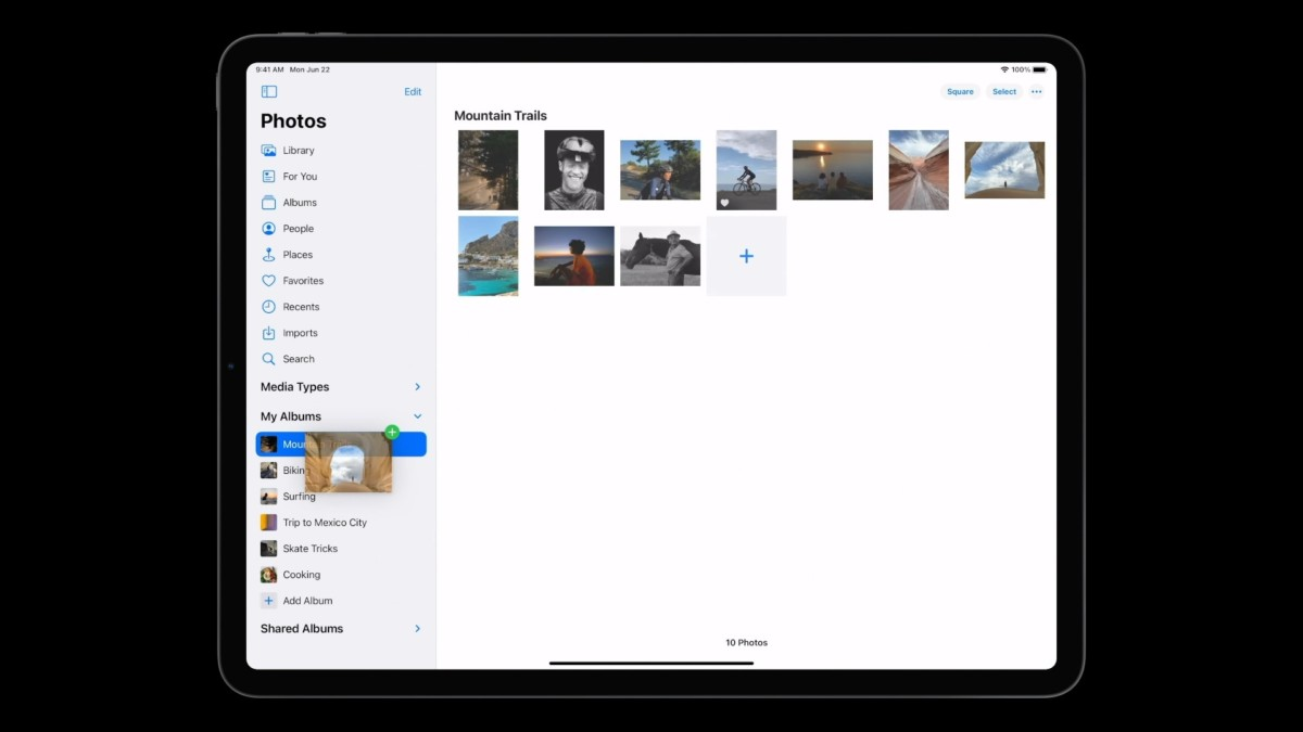 Photo Sidebar on iPadOS 14