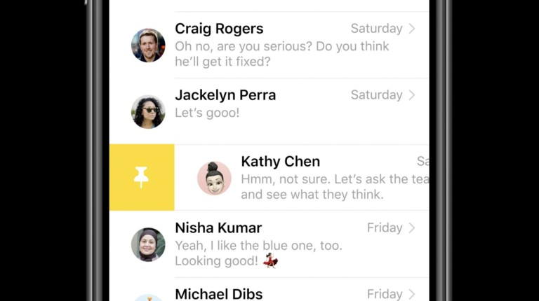 Messages on iOS 14