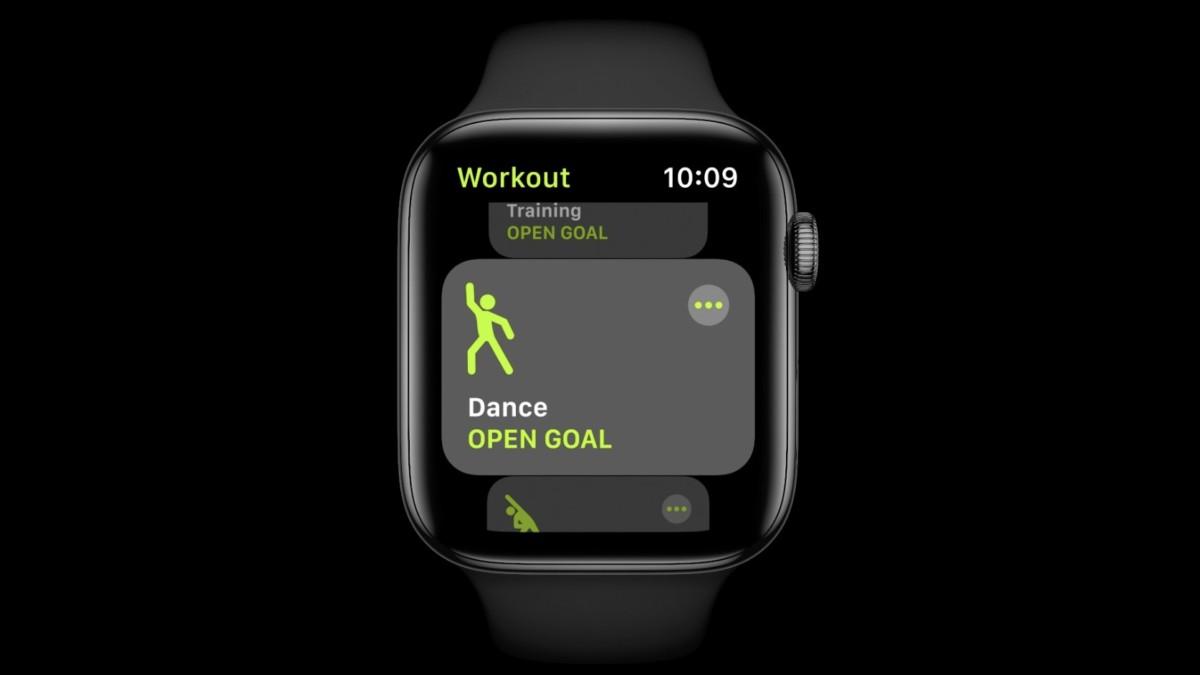 Dance workout on watchOS 7