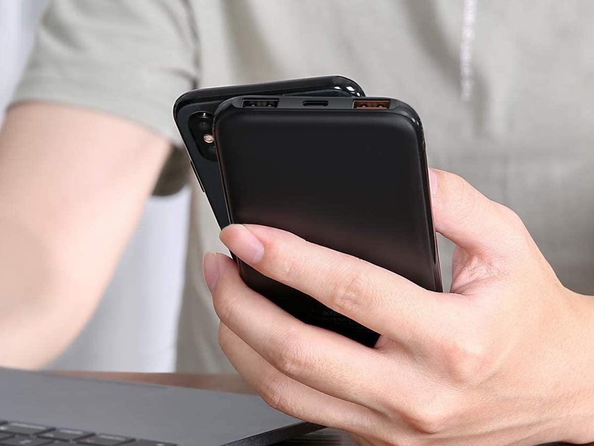 AUKEY Sprint Wireless 8,000 mAh Portable Charging Power Bank is sleek and slim
