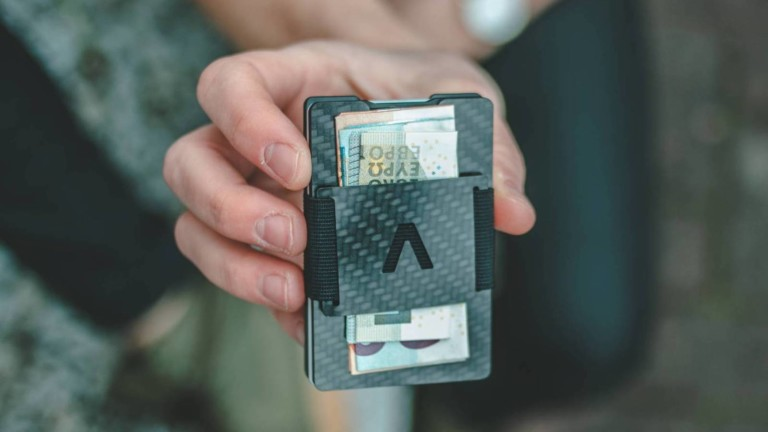 AVIATOR Slide Carbon Wallet Card Holder provides easy access to your money