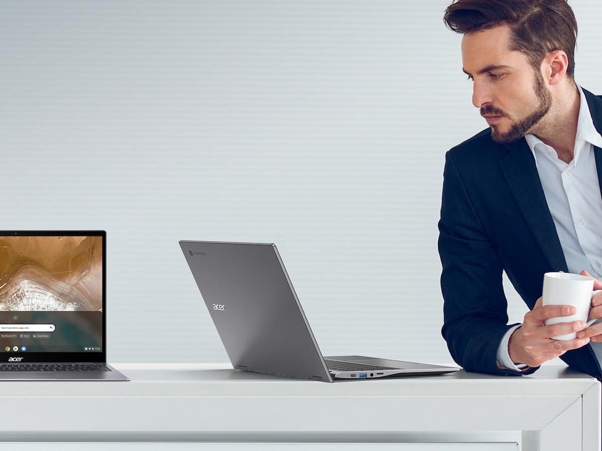 Acer Chromebook Enterprise Spin 713 interchangeable laptop flips a full 360 degrees